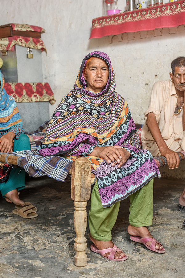 Haneefa Bib, Chak 4/4L - activist and participant in the landless peasant movement, the Anjuman-e-Mazareen (AMP) in Okara, Punjab. She was severely beaten by local police as she attempted to protest against the arrest of the leader of the AMP movement Mehd Abdul Sattar on May 16th, 2016. The use of violence against women protestors and activists is a new development and reflects the growing frustration and determination of the military authorities to break this movement and wrest control of the lands the tenant farmers currently occupy.