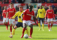Blackburn Rovers' Joe Rothwell chases down Nottingham Forest's Pele<br /> <br /> Photographer David Shipman/CameraSport<br /> <br /> The EFL Sky Bet Championship - Nottingham Forest v Blackburn Rovers - Saturday 13th April 2019 - The City Ground - Nottingham<br /> <br /> World Copyright © 2019 CameraSport. All rights reserved. 43 Linden Ave. Countesthorpe. Leicester. England. LE8 5PG - Tel: +44 (0) 116 277 4147 - admin@camerasport.com - www.camerasport.com