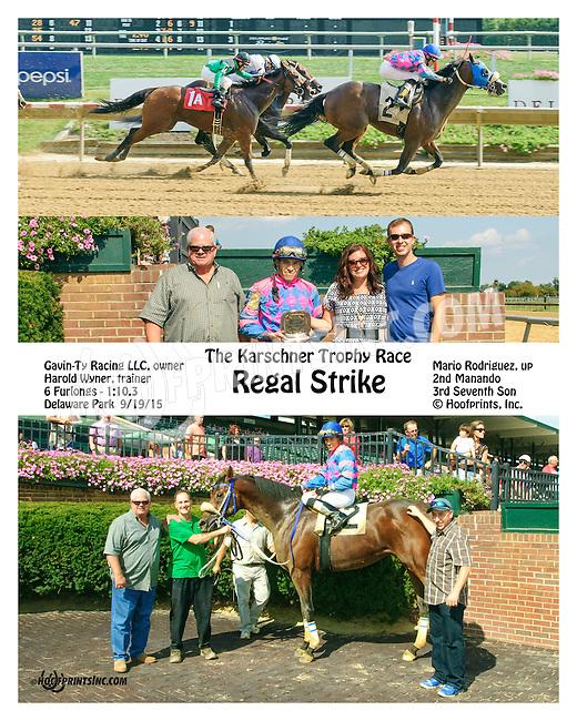 Regal Strike winning at Delaware Park on 9/19/15