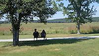 NWA Democrat-Gazette/FLIP PUTTHOFF <br /> Visitors enjoy the quiet and the beauty      Sept. 3 2016   at Pea Ridge National Military Park.