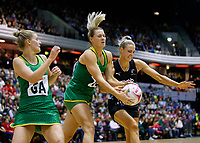 20.01.2019 Silver Ferns in action during the Silver Ferns v South Africa netball test match at the Copper Box Arena, London. Mandatory Photo Credit ©Michael Bradley Photography/Ben Queenborough.20.01.2019 Jane Watson of the Silver Ferns  during the Silver Ferns v South Africa netball test match at the Copper Box Arena, London. Mandatory Photo Credit ©Michael Bradley Photography/Ben Queenborough.