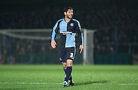 Joe Jacobson of Wycombe Wanderers during the Sky Bet League 2 match between Wycombe Wanderers and Notts County at Adams Park, High Wycombe, England on 15 December 2015. Photo by Andy Rowland.