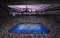 AMBIENCE, ANDY MURRAY (GBR), NOVAK DJOKOVIC (SRB)<br /> <br /> TENNIS - GRAND SLAM ITF / ATP  / WTA - Australian Open -  Melbourne Park - Melbourne - Victoria - Australia  - 31 January 2016<br /> <br /> &copy; AMN IMAGES