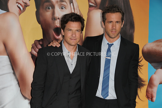 WWW.ACEPIXS.COM . . . . .  ....August 1 2011, LA....Jason Bateman and Ryan Reynolds arriving at 'The Change-Up' Premiere at Regency Village Theatre on August 1, 2011 in Westwood, California.....Please byline: PETER WEST - ACE PICTURES.... *** ***..Ace Pictures, Inc:  ..Philip Vaughan (212) 243-8787 or (646) 679 0430..e-mail: info@acepixs.com..web: http://www.acepixs.com