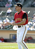 April 29, 2004:  Coach Rich Miller of the Rochester Red Wings, Triple-A International League affiliate of the Minnesota Twins, during a game at Frontier Field in Rochester, NY.  Photo by:  Mike Janes/Four Seam Images