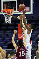 Washington, DC - MAR 7, 2018: George Washington Colonials forward Bo Zeigler (35) goes up strong to the basket in game between G.W. and Fordham during first round action of the Atlantic 10 Basketball Tournament at the Capital One Arena in Washington, DC. (Photo by Phil Peters/Media Images International)