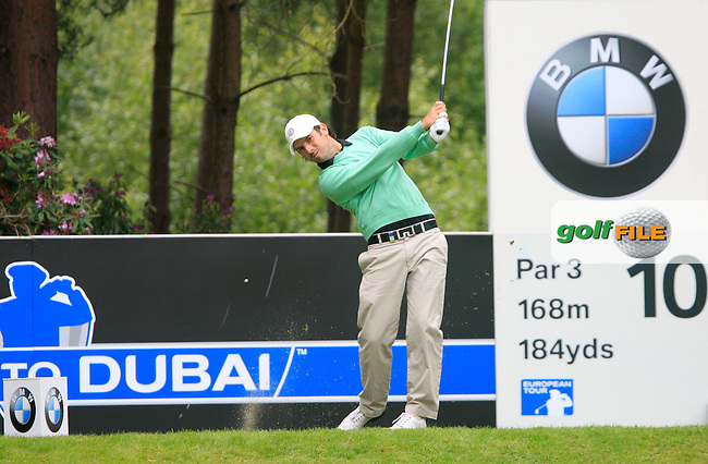Thomas Aiken (RSA) tees off on the 10th tee during Day 3 of the BMW PGA Championship Championship at, Wentworth Club, Surrey, England, 28th May 2011. (Photo Eoin Clarke/Golffile 2011)