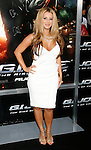 "HOLLYWOOD, CA. - August 06: Aubrey O'Day arrives at a special screening of ""G.I. Joe: The Rise Of The Cobra"" on August 6, 2009 in Hollywood, California."