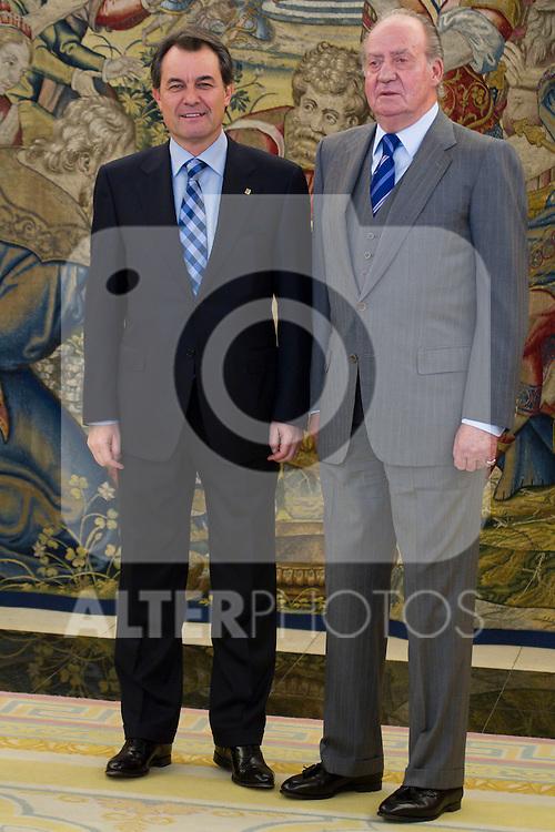 310111.Mc.Rey Juan Carlos.D. Artur Mas I Gavarro, Presidente De La Generalitat De Cataluña.310111.Pal Zarzuela. madrid. ..