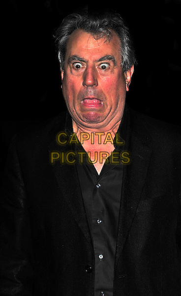 "TERRY JONES.The UK Premiere of ""The Imaginarium Of Doctor Parnassus"" at the Empire Leicester Square, London, England..October 6th 2009.half length black wide eyes funny face mouth open.CAP/CJ.©Chris Joseph/Capital Pictures."