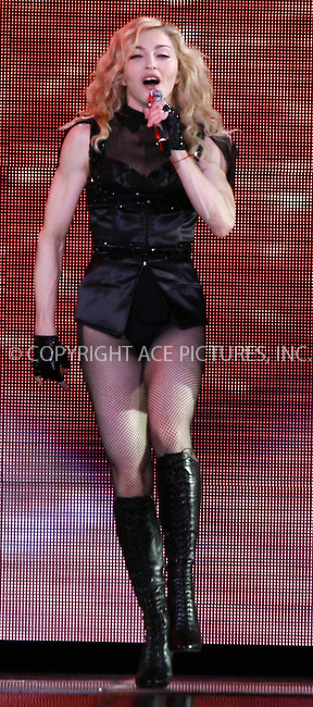 WWW.ACEPIXS.COM . . . . .  ..... . . . . US SALES ONLY . . . . .....July 7 2009, Manchester....Recording artist Madonna performing live during her 'Sticky & Sweet' tour at the Manchester Arena on July 7 2009 in England....Please byline: FAMOUS-ACE PICTURES... . . . .  ....Ace Pictures, Inc:  ..tel: (212) 243 8787 or (646) 769 0430..e-mail: info@acepixs.com..web: http://www.acepixs.com