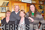 TABBLE QUIZ: Competing in the Kingdom Beekeeping Association table quiz in aid of Care Co in Rodrigues Island, Mauritius at Stokers Lodge restaurant and bar, Tralee on Friday l-r:Carol, Kevin, Lorna and Eoin Leen, Ballymac.