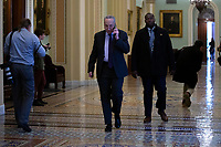 United States Senate Minority Leader Chuck Schumer (Democrat of New York) walks to his office as he arrives at the United States Capitol in Washington D.C., U.S., on Thursday, January 9, 2020.<br /> <br /> Credit: Stefani Reynolds / CNP/AdMedia