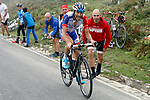 Thibaut Pinot (FRA) Groupama-FDJ on his way to victory near the finish of Stage 15 of the La Vuelta 2018, running 178.2km from Ribera de Arriba to Lagos de Covadonga, Spain. 9th September 2018.               Picture: Unipublic/Photogomezsport | Cyclefile<br /> <br /> <br /> All photos usage must carry mandatory copyright credit (&copy; Cyclefile | Unipublic/Photogomezsport)