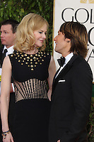 BEVERLY HILLS, CA - JANUARY 13: Nicole Kidman and Keith Urban at the 70th Annual Golden Globe Awards at the Beverly Hills Hilton Hotel in Beverly Hills, California. January 13, 2013. Credit: mpi29/MediaPunch Inc. /NortePhoto