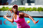 The tennis player Sloane Stephens during the match against Na Li in the Madrid Open Tennis Tournament. In Madrid, Spain, on 05/08/2014.