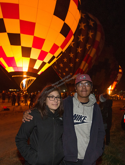 Vivian and Jose at the Great Reno Balloon Races held on Saturday, Sept. 10, 2016.