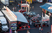 Sep 13, 2013; Charlotte, NC, USA; NHRA Toyota Pit Pass display on the midway during qualifying for the Carolina Nationals at zMax Dragway. Mandatory Credit: Mark J. Rebilas-