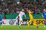 10.08.2019, wohninvest Weserstadion, Bremen, GER, DFB-Pokal, 1. Runde, SV Atlas Delmenhorst vs SV Werder Bremen<br /> <br /> DFB REGULATIONS PROHIBIT ANY USE OF PHOTOGRAPHS AS IMAGE SEQUENCES AND/OR QUASI-VIDEO.<br /> <br /> im Bild / picture shows<br /> <br /> Niclas Füllkrug / Fuellkrug (Werder Bremen #11)<br /> Florian Urbainski (SV Atlas Delmenhorst #01)<br /> <br /> Foto © nordphoto / Kokenge