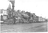 3/4 left side view of K-28 #475 at Durango.<br /> D&amp;RGW  Durango, CO  8/1940