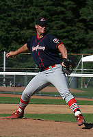 July 13, 2003:  Jason John of the New Jersey Cardinals during a game at Russell Diethrick Park in Jamestown, New York.  Photo by:  Mike Janes/Four Seam Images