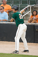 Michael Stanton (20) of the Greensboro Grasshoppers waits in the on deck circle for his chance to hit at Fieldcrest Cannon Stadium in Kannapolis, NC, Saturday August 24, 2008. (Photo by Brian Westerholt / Four Seam Images)