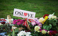 Oslo, 20110727. OSLOVE. fra domkirkeplassen, oslo domkirke. terror i oslo. Foto: Eirik Helland Urke / Dagbladet