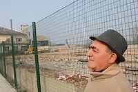 - Piero Ferraris, worker of Eternit plant in Casale Monferrato, poisoned by asbestos, on the former site of the factory now dimantled<br /> <br /> - Piero Ferraris, lavoratore dello stabilimento Eternit di Casale Monferrato, intossicato dall'amianto, sul luogo dove sorgeva lo stabilimento, oggi smantellato