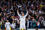 Cristiano Ronaldo of Real Madrid celebrates at the full time during the UEFA Champions League Semi-final 2nd leg match between Real Madrid and Bayern Munich at the Estadio Santiago Bernabeu on May 01 2018 in Madrid, Spain. Photo by Diego Souto / Power Sport Images