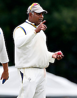 Wembley captain Chula De Silva during the Middlesex Cricket League Division Two game between Brondesbury and Wembley at Harman Drive, London on Sat Aug 1, 2015