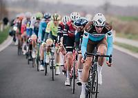 Stijn VANDENBERGH (BEL/AG2R-LaMondiale) at the front<br /> <br /> 74th Omloop Het Nieuwsblad 2019 <br /> Gent to Ninove (BEL): 200km<br /> <br /> ©kramon
