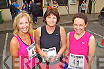 Pictured at the Milltown Mini Marathon on Sunday, from left: Anna O'Brien (Cork), Helen Twomey (Glenflesk) and Brid Murphy (Castleisland)..