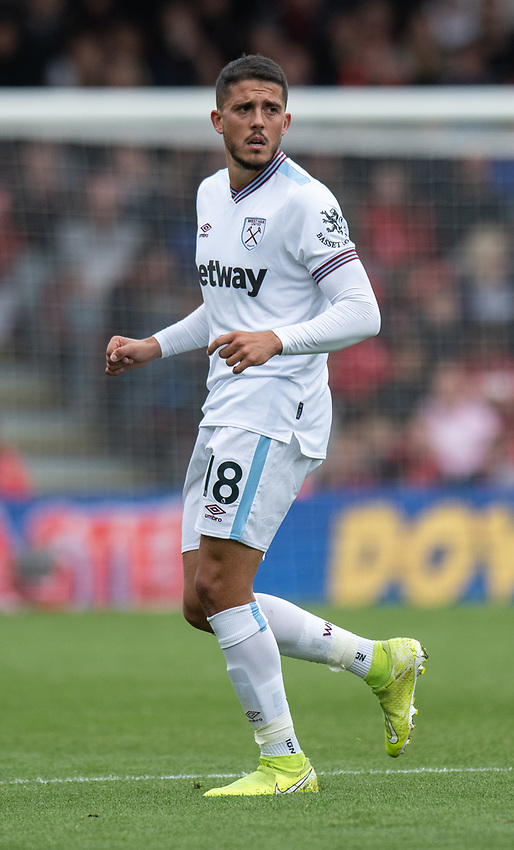 West Ham United's Pablo Fornals<br /> <br /> Photographer David Horton/CameraSport<br /> <br /> The Premier League - Bournemouth v West Ham United - Saturday 28th September 2019 - Vitality Stadium - Bournemouth<br /> <br /> World Copyright © 2019 CameraSport. All rights reserved. 43 Linden Ave. Countesthorpe. Leicester. England. LE8 5PG - Tel: +44 (0) 116 277 4147 - admin@camerasport.com - www.camerasport.com