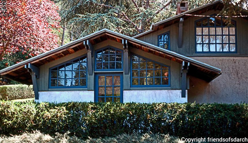 Bernard Maybeck: Matewson Studio, House 1916. Buena Vista Way, Berkeley CA. Photo '76.