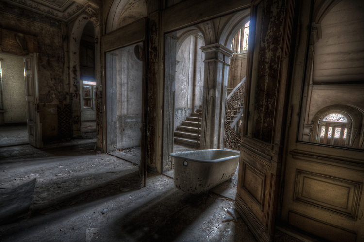 Abandoned ghostly villa in East Germany.<br />
