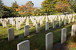 Graves from second world war at Haycombe cemetery, Bath, Somerset, England, UK