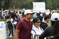 Julian Suri (USA) signing autographs and posing for photo's after Round 3 of the UBS Hong Kong Open, at Hong Kong golf club, Fanling, Hong Kong. 25/11/2017<br /> Picture: Golffile | Thos Caffrey<br /> <br /> <br /> All photo usage must carry mandatory copyright credit     (© Golffile | Thos Caffrey)