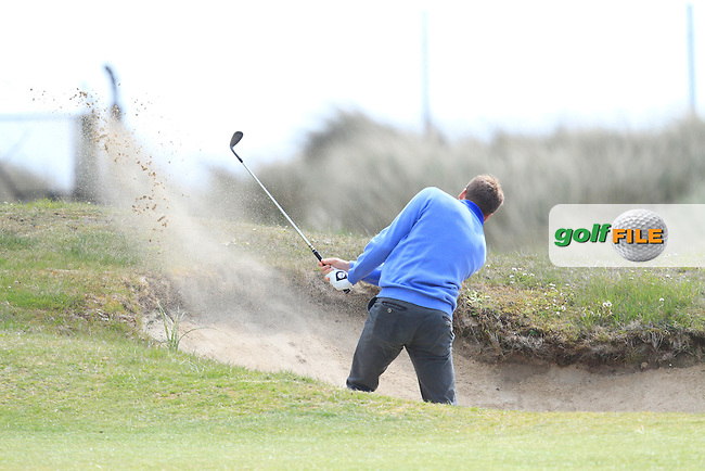 Cloudio Consul (Germany) on the 2nd fairway during Round 1 of the Irish Amateur Open Championship at Royal Dublin on Thursday 7th May 2015.<br /> Picture:  Thos Caffrey / www.golffile.ie