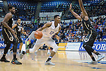 December 19, 2016:  Air Force forward, Lavelle Scottie #12, drives for the basket during the NCAA basketball game between the University of Colorado Buffaloes and the Air Force Academy Falcons, Clune Arena, U.S. Air Force Academy, Colorado Springs, Colorado.  Colorado defeats Air Force 75-68.
