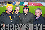 Pictured at Pairc Ui Chaoimh on Sunday for the Crokes v  Castlehaven senior club final game were l-r: John Hurley, Fergal Keogh, Fegus Kelly and Don Brosnan ..