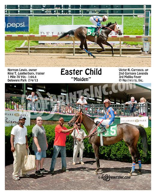 Easter Child winning at Delaware Park on 7/4/13