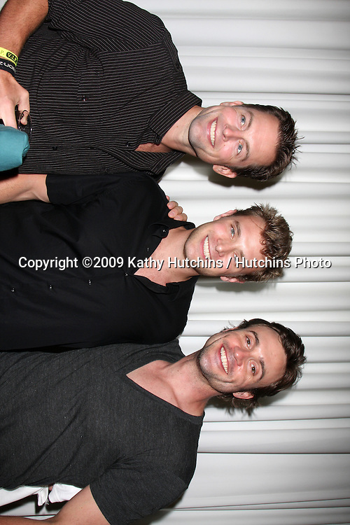 Michael Muhney, Billy Miller, & Daniel Goddard at The Young & the Restless Fan Club Dinner  at the Sheraton Universal Hotel in  Los Angeles, CA on August 28, 2009.©2009 Kathy Hutchins / Hutchins Photo.