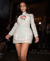 Kim Kardashian & sisters Kendall & Khloé leave the ' Costes' hotel restaurant in Paris - France