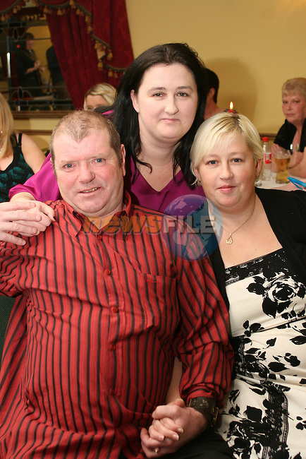 Danielle Hanley with Paul and Patricia McGinty at the Benefit night on behalf of Irish Autism Association...Photo NEWSFILE/Jenny Matthews.(Photo credit should read Jenny Matthews/NEWSFILE)....This Picture has been sent you under the condtions enclosed by:.Newsfile Ltd..The Studio,.Millmount Abbey,.Drogheda,.Co Meath..Ireland..Tel: +353(0)41-9871240.Fax: +353(0)41-9871260.GSM: +353(0)86-2500958.email: pictures@newsfile.ie.www.newsfile.ie.FTP: 193.120.102.198.