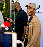 HALLANDALE BEACH, FL - JANUARY 27: Pharrell on the Blue Carpet on Pegasus World Cup Invitational Day at Gulfstream Park Race Track on January 27, 2018 in Hallandale Beach, Florida. (Photo by Scott Serio/Eclipse Sportswire/Getty Images)