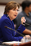 Barbara Buckley, the executive director of Legal Aid Center of Southern Nevada, testifies at the Legislature, in Carson City, Nev., on Wednesday, March 23, 2011.   .Photo by Cathleen Allison