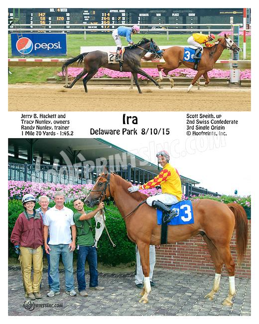 Ira winning at Delaware Park on 8/10/15