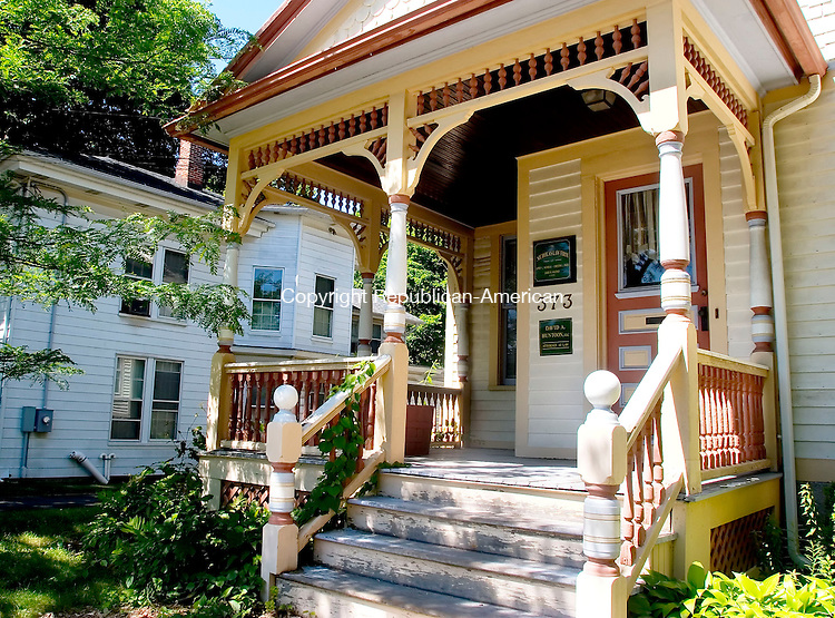 TORRINGTON, CT- 30 JUNE 2007- 063007JT02-<br /> A section of Prospect Street in Torrington has several Victorian houses, such as this one, that feature fancy porches.<br /> Josalee Thrift Republican-American