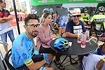 Dario Cataldo (ITA) Astana Pro Team relaxes in the Vuelta Village before the start of Stage 4 of La Vuelta 2019 running 175.5km from Cullera to El Puig, Spain. 27th August 2019.<br /> Picture: Eoin Clarke | Cyclefile<br /> <br /> All photos usage must carry mandatory copyright credit (© Cyclefile | Eoin Clarke)