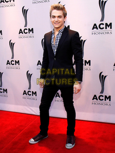 Hunter Hayes.The Academy of Country Music honored artists and music industry professionals at their annual Honors Awards held at the world-famous Ryman Auditorium in downtown Nashville, TN., USA..September 24th, 2012.full length black suit white blue gingham shirt .CAP/ADM/DH.©Dan Harr/AdMedia/Capital Pictures.